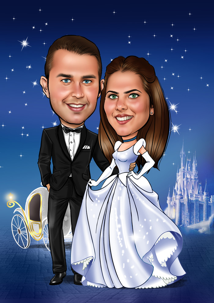 Cartoon photo online with Wish2Be - free caricature maker